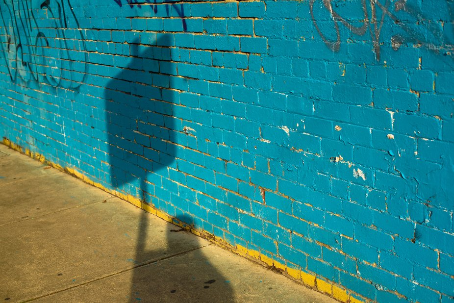 The shadow on the wall