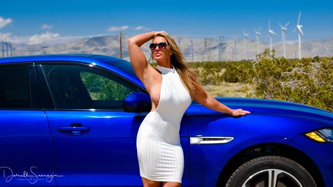 Bailey Daniels with Jag F pace