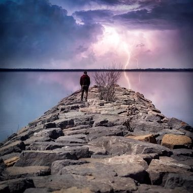 This photo is from Britannia Park in Ottawa.  It is a composite I made from an image I took just recently.  The sky was dull and rather unimaginative, so I decided to add some spice! Hope you enjoy it. Photo: Myself Lightning Image credit: FelixMittermeier