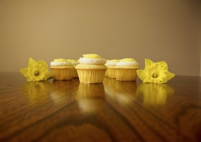 Luminous lemon cupcakes!