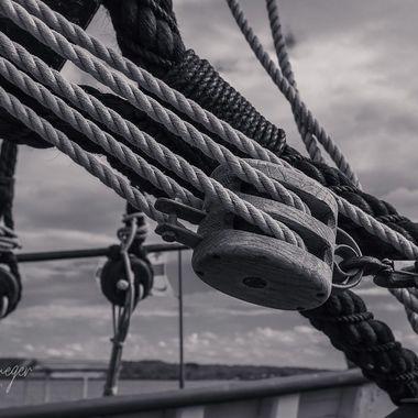 Scottish immigrant ship replica On PEI Canada