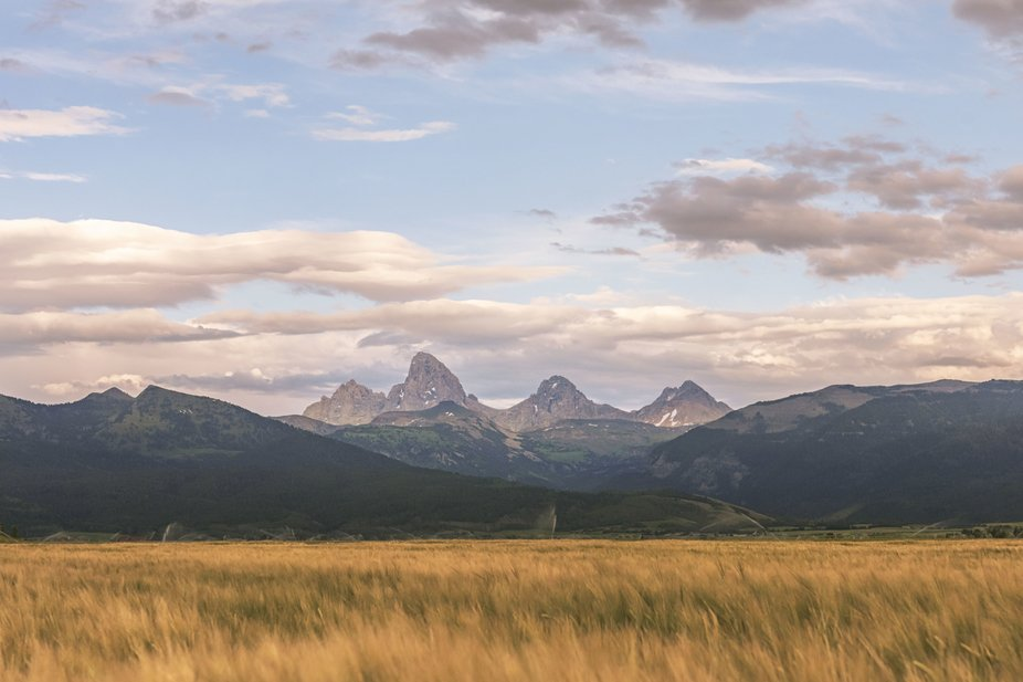 View of the Tetons from the Idaho side