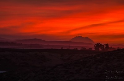 Sunset from the Columbia Basin