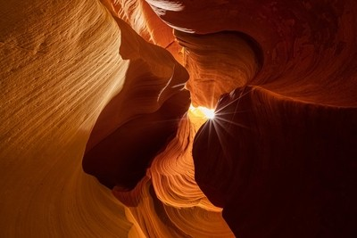 Inside the rocks