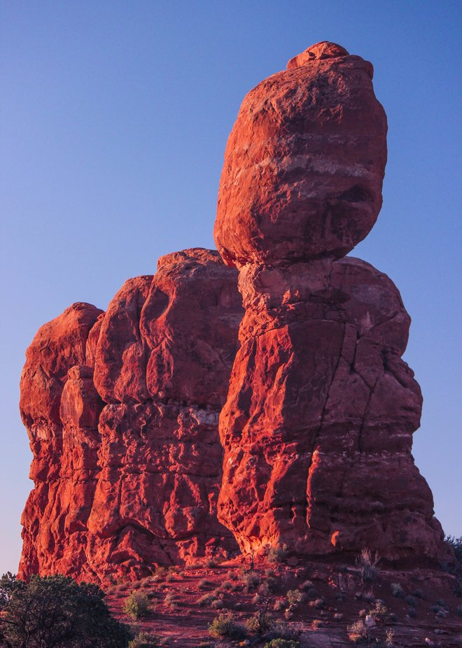 A unique rock formation resembling a horse