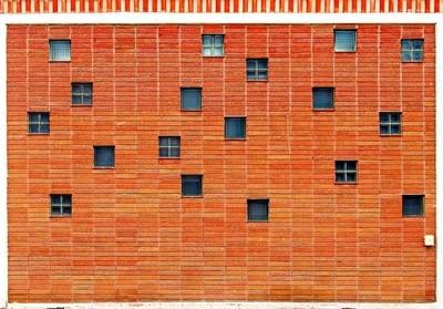 Brick Wall with Glass Blocks