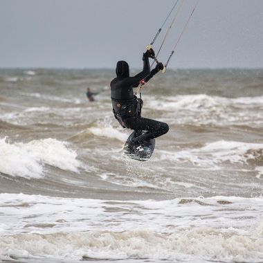 Kite surfer at Texel, Netherlands