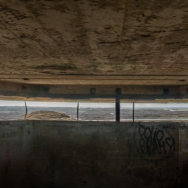 View from an old world war II bunker at Texel, Netherlands
