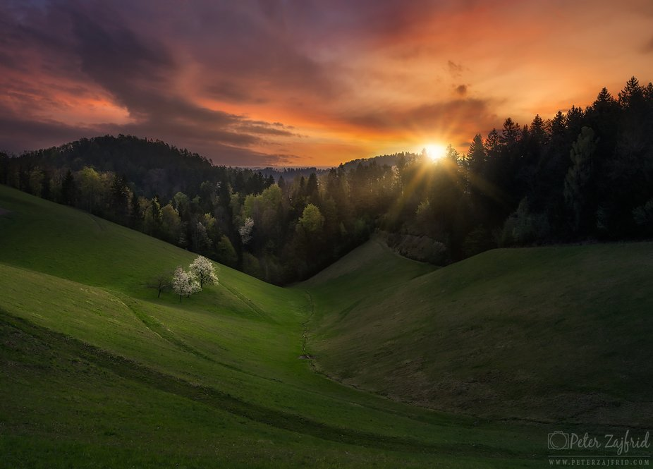 Sunrise on Pohorje hill, SLovenia