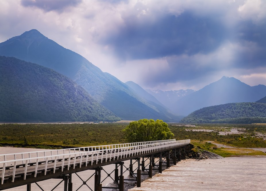 The Waimakariri River is in the New Zealand Alps in the middle of the South Island. This was shot...