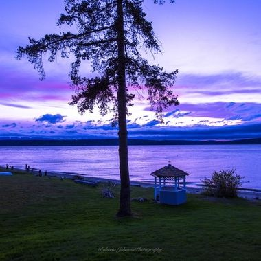Such a pretty way to end the day. Hood Canal, Washington, USA