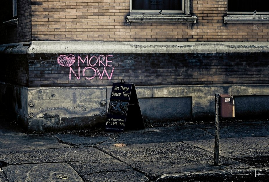 Graffiti in chalk found in Jim Thorpe, PA during the start of the COVID-19 crisis in the United S...