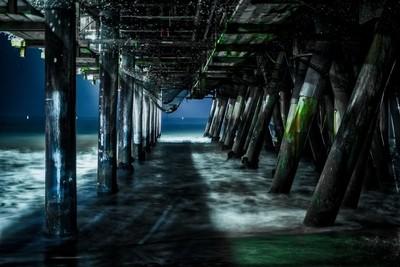 Under the Pier in Santa Monica, California