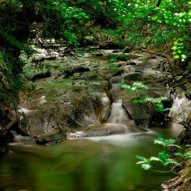 Spring water flow