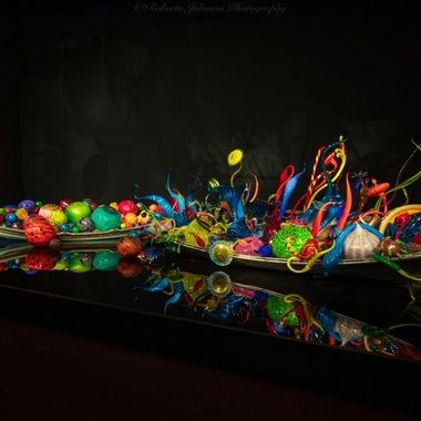 Chihuly Art display at the  Seattle Center.