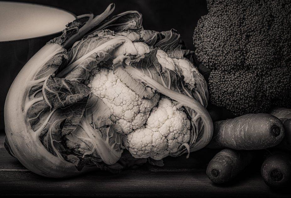 Cauliflower B&W