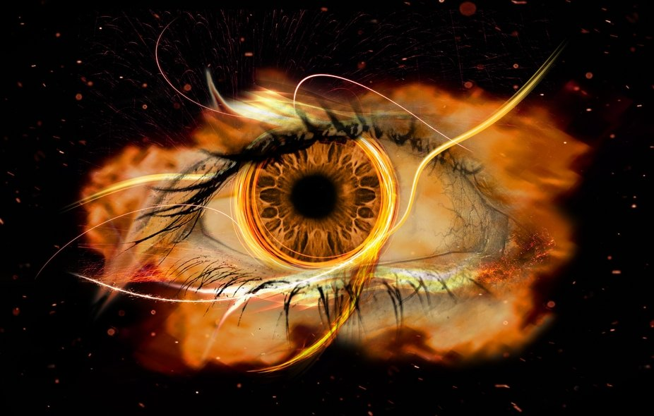 A composite image of more than 20 layers. The hardest part was working out how to overlay the eye...