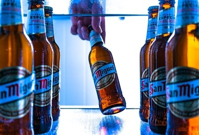 Beers in a make up fridge