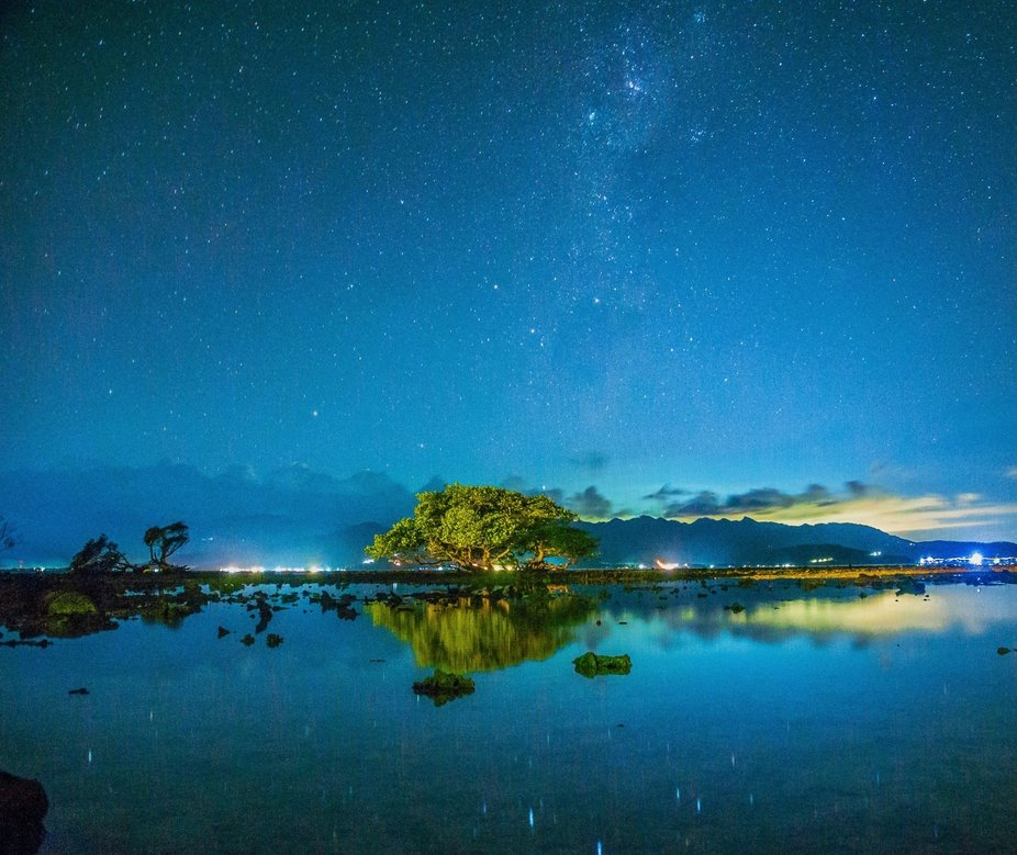 Gili T Island and all the stars