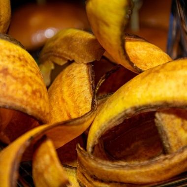 a abstract image of crispy fried plantain chips