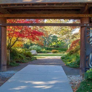 Entrance to Kubota Gardens, Seattle Washington