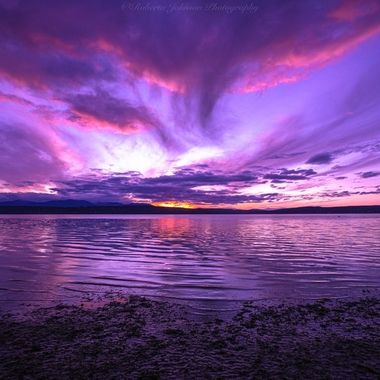 What a gorgeous way to end the day. Hood Canal, Washington, USA
