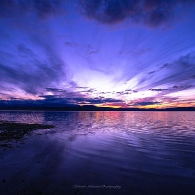 What a stunning way to end the day. Hood Canal, Washington, USA