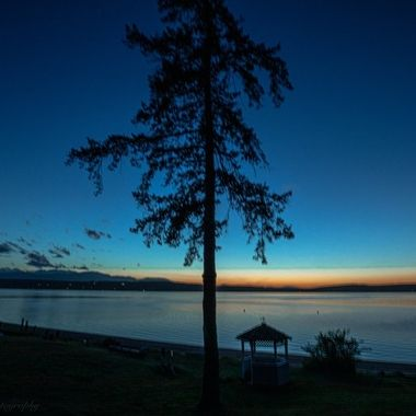Such a beautiful ending to the day. Hood Canal, Washington, USA