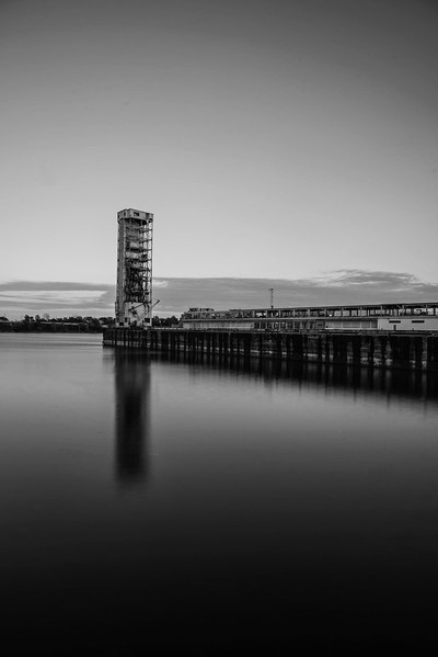 I'll keep it up.  Another black and white photography of the old port of Montreal. I took it last year. Lockdown wasn't on the agenda yet ????