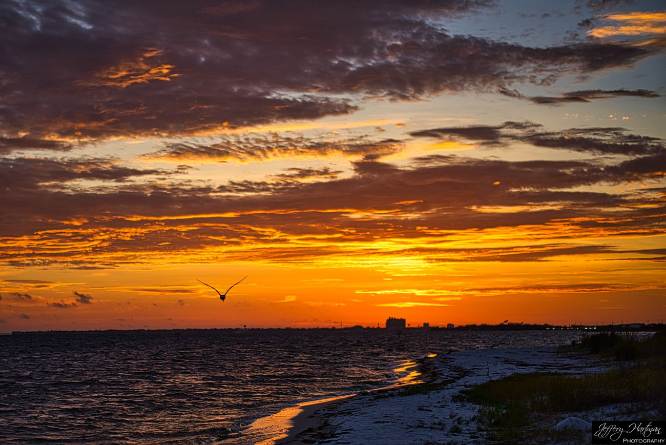 Revisiting the archive with Luminar 4.  Okaloosa Island, FL looking toward Destin, FL and the Emerald Grand.