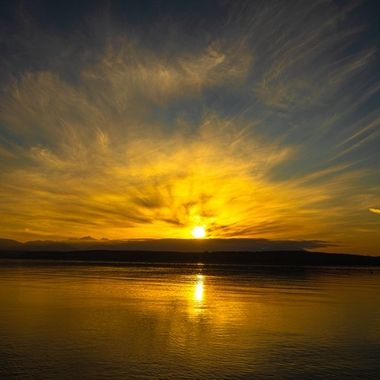 Such Glorious skies to end the day. We are so blessed with beauty in the PNW. Hood Canal, Washington, USA