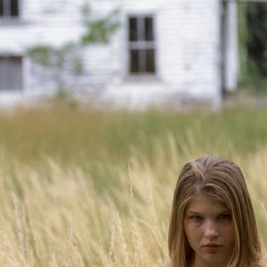 Happened by this abandoned farmhouse with tall grass and my friend, Teresa agreed to model for me.