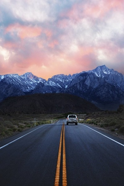 Alabama Hills, CA Sunset Road