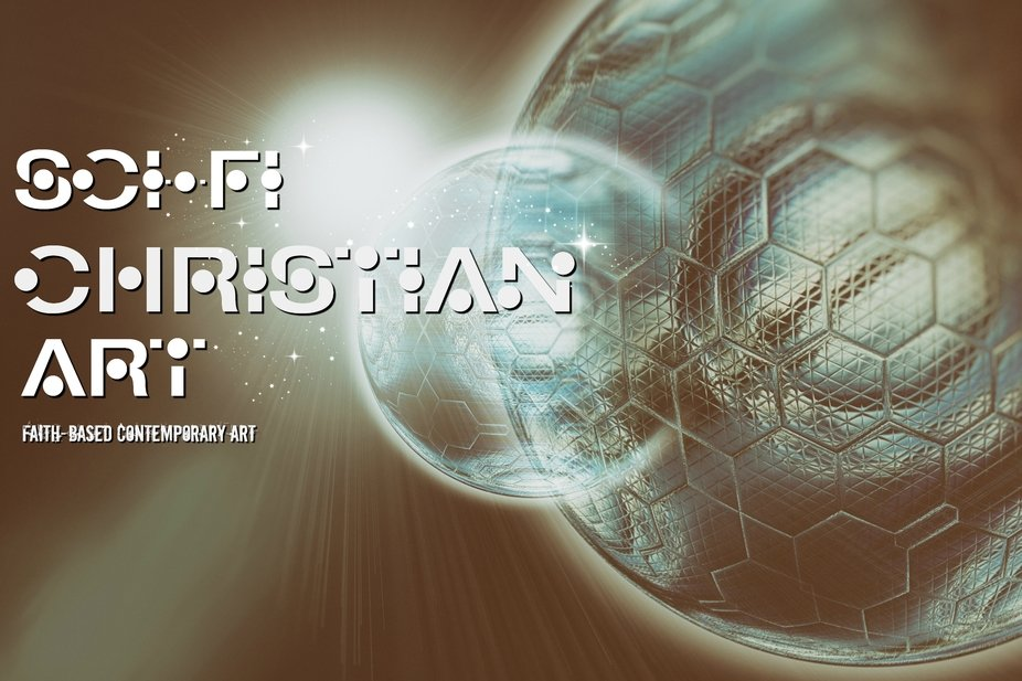 Cover art for SciFi Christian Art, my Facebook art and photos page.  :)