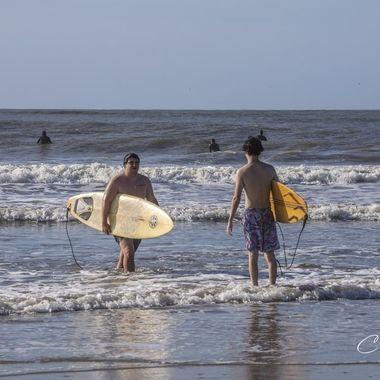 Surfers of Folly Beach