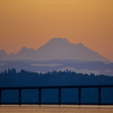 Mt. Baker a glow this morning. What a gorgeous way to begin our day. We are so blessed with beauty in the PNW. Hood Canal, Washington, USA