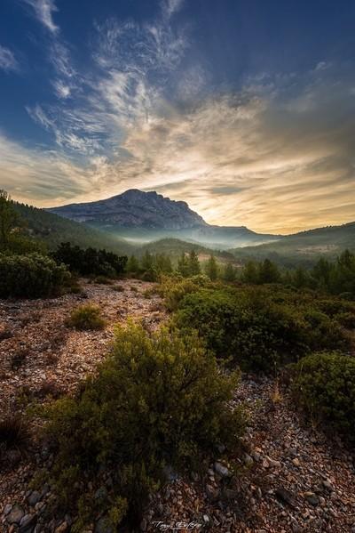 Montagne Sainte Victoire au lever du jour