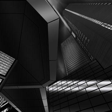 Underside of Walkway and buildings