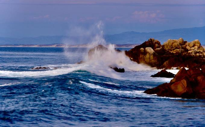 Storm Swells along the central California Coast explode with powerful beauty against the rugged shoreline