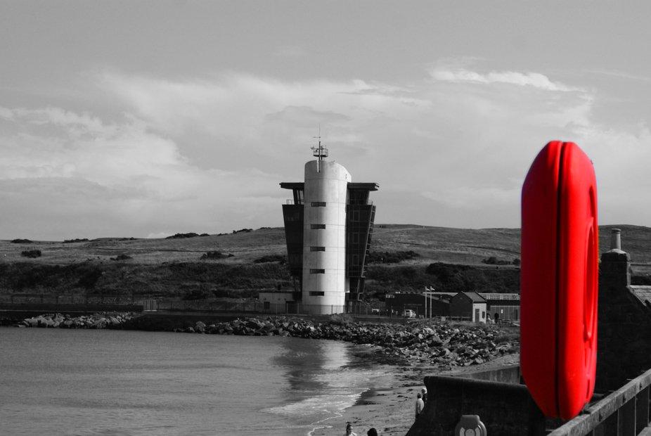 Aberdeen beach with Marine centre in the background.