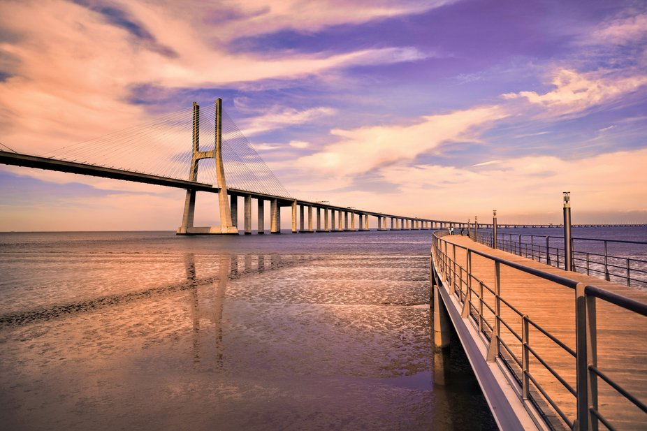 With its 12.3 km long is the longest bridge in Western Europe, the second longest in Europe and o...