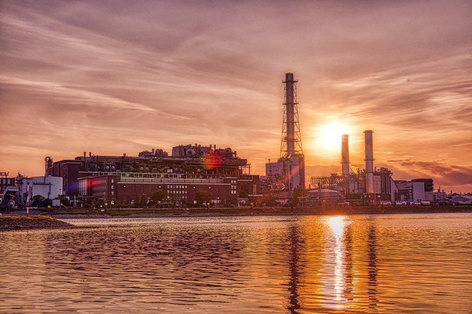 Sunset on river side