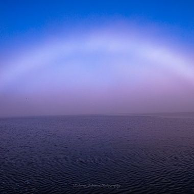 A fog bow is sometimes called a white rainbow and is  a wonderful phenomenon. I saw this the same morning as the Aurora Borealis and that beautiful tug boat photo that I have previously shared. I hope you enjoy this too. I felt so blessed to have experienced it. It was so big, it covered the whole sky above the Olympic Mountains, still behind the fog. There are so many reasons this is special to me. I find it absolutely heavenly! I am so blessed,