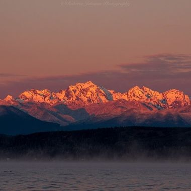 We are off to another beautiful beginning this morning in the PNW. We are blessed with so much beauty I am proud to call it my home. The Olympic Mountains, Mt. Constance, Hood Canal, Washington, USA