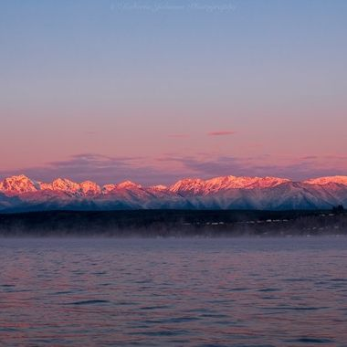 Such a beautiful beginning to the day. I love the beauty of the PNW and a proud to call it my home. The Olympic Mountains, Hood Canal, Washington, USA