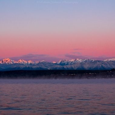 It was such a beautiful start to the day today. I love living in the PNW. We are blessed with so much beauty. The Olympic Mountains, Hood Canal, Washington, USA