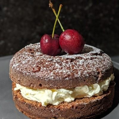 Chocolate cherry cake. Not for sharing