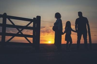 Family in Sun