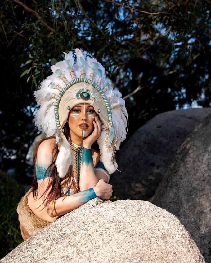 theme shoot with Brigitte Berlin, make up and body painting artist.  Headdress by Brigitte Berlin