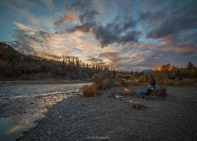 Campfire by the Jack River